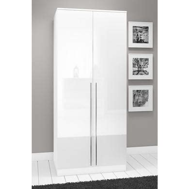 Small Width Wardrobes by Space White High Gloss 2 Door Wardrobe Furniture123