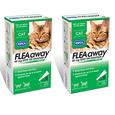 Get the best quote for your dogs and cats, and find the best insurance for your needs. FleaAway Cat (2 Pack) | Buy from the RSPCA Gift Shop