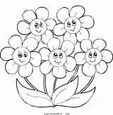 Coloring Flower Flowers Clipart Daisy Happy Simple Gerbera Gerber Drawing Printable Daisies Getdrawings Getcolorings Clipground Popular Colorings Colorin sketch template