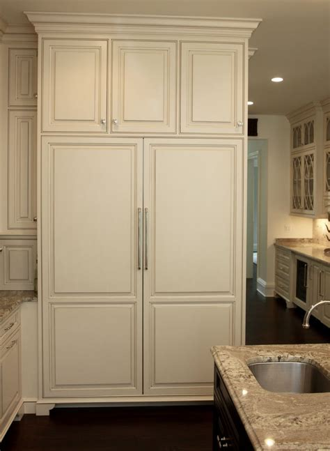 matching wood panels  subzero refrigerator