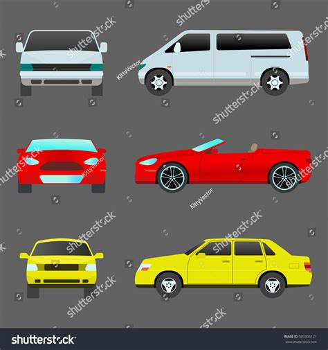 Car Vehicle Transport Type Design Travel Stock Vector