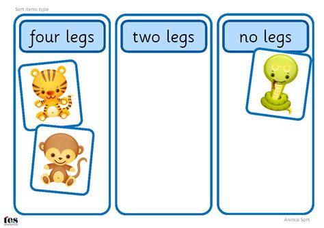 simple sorting activity featuring the twelve animals of 143 | 26347e9bb7d504c91c00356845e8f08d