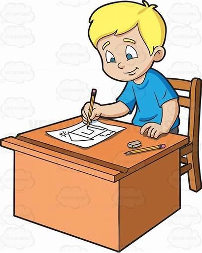 Sketching Boy Cartoon Paper Clipart Sketch Vectortoons