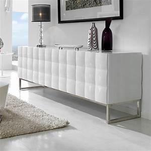 Bahut Blanc Laqué Design : bahut design 3 ou 4 portes laqu blanc avec motif en relief ~ Teatrodelosmanantiales.com Idées de Décoration