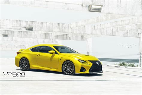 lexus yellow yellow lexus rc f stuns on velgen wheels gtspirit