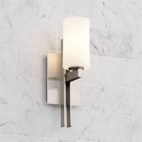 possini euro 14 quot high ludlow brushed nickel wall sconce 16452 ls plus