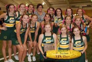 otm cheerleaders  top honors   mountain journal