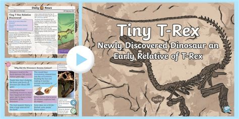 * New * Uks2 Tiny Trex Daily News Powerpoint