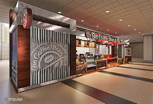 Airport Kiosk Coffee Bean & Tea Leaf Design 3 - 3d Impulse