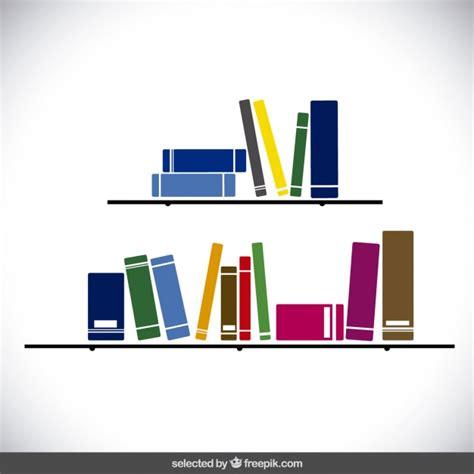 scaffali colorati scaffali con libri colorati scaricare vettori gratis