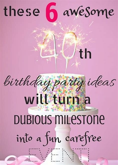 40th Birthday Party Ideas For A Fun Event  Canvas Factory