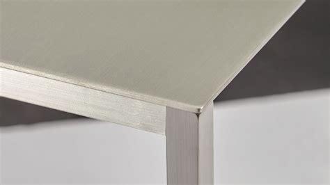 sancha   brushed aluminum console table zuri furniture
