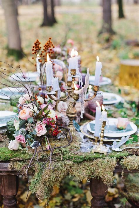 ideas  enchanted forest wedding themes