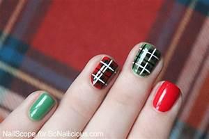 Most beautiful plaid design nail art ideas for trendy girls