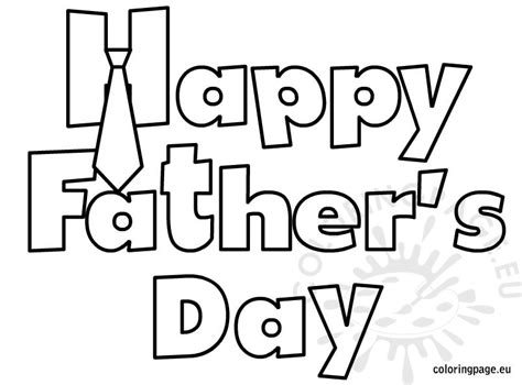 Happy Father's Day Coloring Sheet