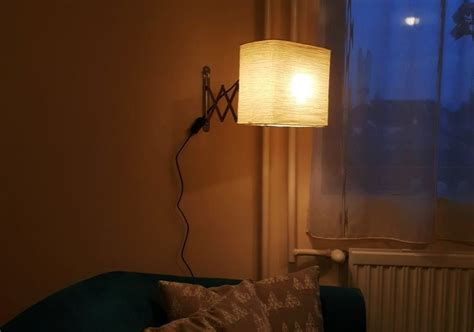 ikea frack hack wall mounted reading l emits soft warm light