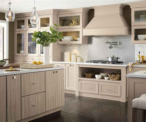 beige cabinets   transitional kitchen schrock cabinetry