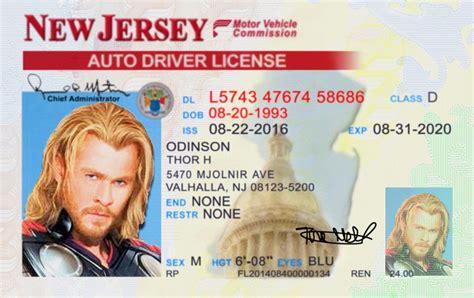 New Jersey (nj) License