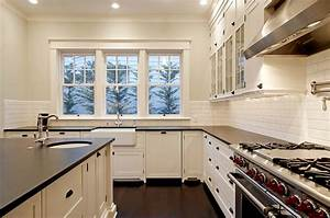 kitchen design ideas off white cabinets kitchen With best brand of paint for kitchen cabinets with tall clear glass candle holders