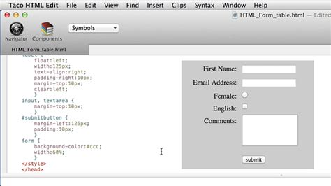 styling  html form  css curiouscom