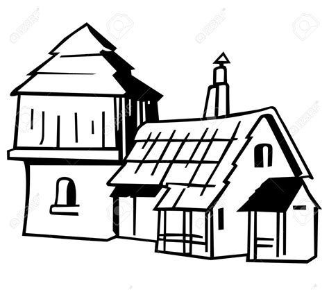 Village clipart black and white 6 » Clipart Station