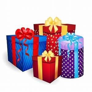 christmas gift boxes vector | Stock Vector | Colourbox