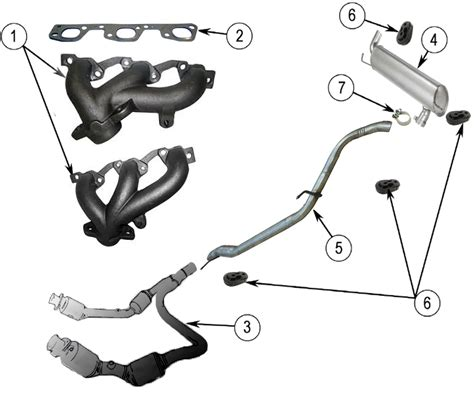Diagrams For Jeep Exhaust Parts