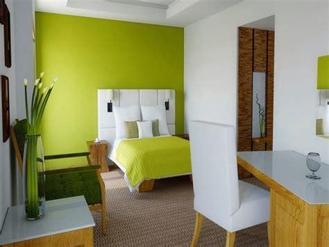 kamar tidur  kombinasi cat warna hijau  mantabz