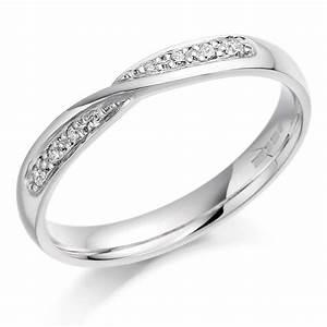 ladies diamond crossover wedding ring 018cts bercott With ladies diamond wedding rings