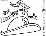 Snowboard Coloring Pages Colorings sketch template