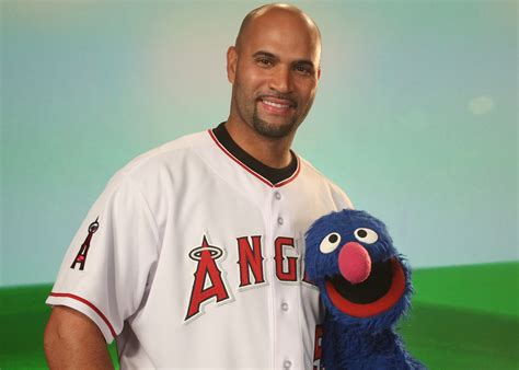 Albert Pujols Hung Out With Grover On Sesame Street Fun
