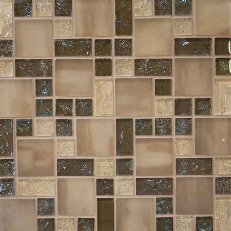 mosaic tiles backsplash kitchen 1 sf brown crackle glass mosaic tile wall backsplash