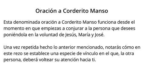 Oración a CORDERITO MANSO【100% EFECTIVA】 YouTube