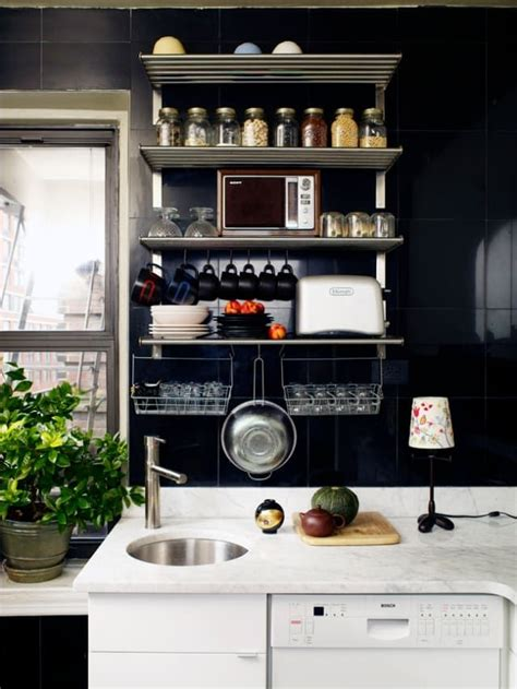 ideas  solutions   small kitchen kitchen shelf design small