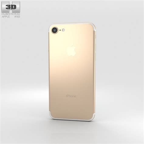 gold iphone apple iphone 7 gold 3d model humster3d