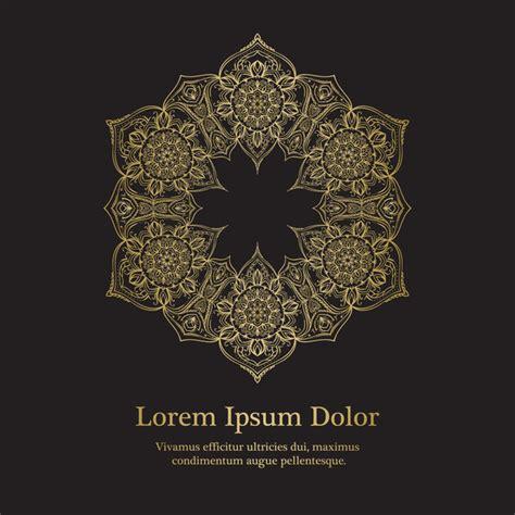 golden mandala background design vector  vector