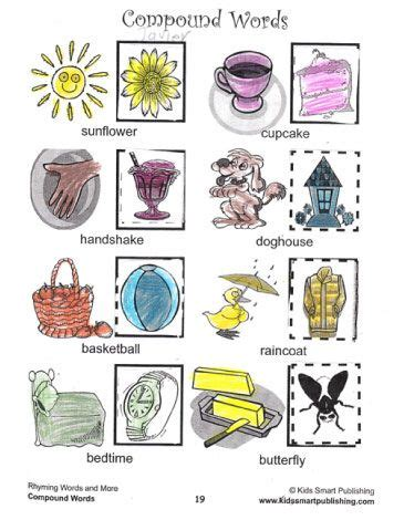 to learn compound words with these cut and