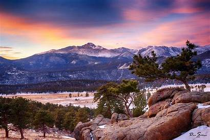 Rocky Mountain Park National Colorado Winter Forest