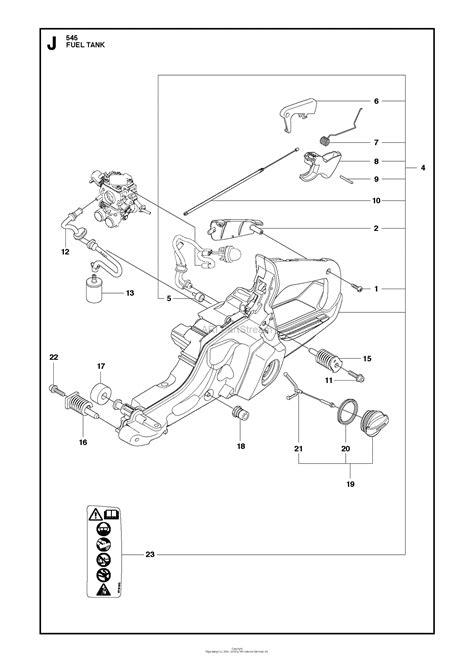 Husqvarna 545 (2013-01) Parts Diagram for FUEL TANK
