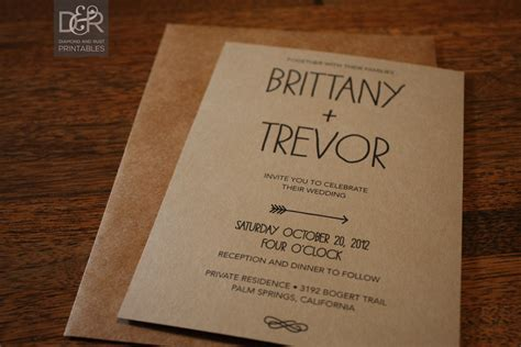 rustic wedding invitation templates wedding