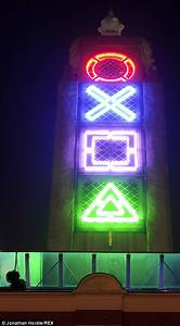 Gaming Lights Triangle Ps4 Release Gives Oxo Tower A Playstation Makeover Daily