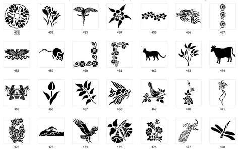 nature stencils page   sign maker