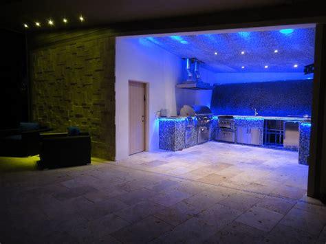 backyard led lighting modern lake house accurateled
