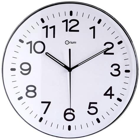 module de classement bureau orium horloge murale aimantée 29 5 cm noir mobilier et
