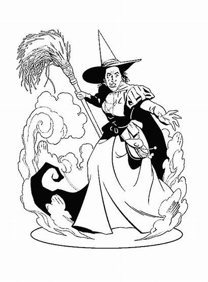 Coloring Halloween Witch Wicked Wizard West Oz
