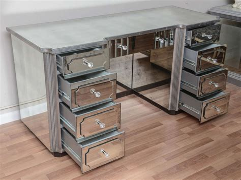 desk with drawers and mirror superb mirrored dressing table or vanity with nine drawers