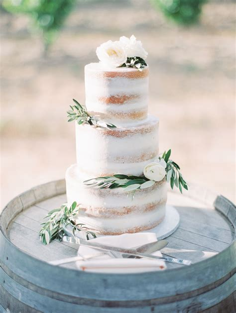 Summer Temecula Vineyard Wedding Rustic Wedding Cake