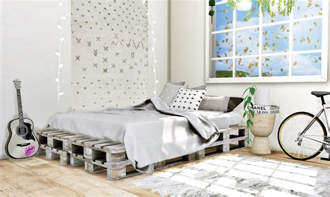 pallet bed frame  mxims teh sims