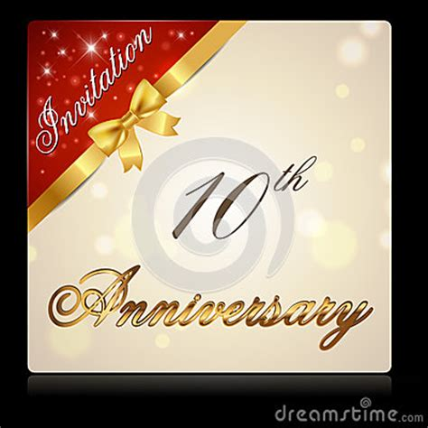 year anniversary  ribbon invitation card stock