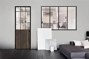 Bloc porte verriere battante atelier sur mesure en for Porte de garage et bloc porte style atelier